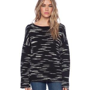 ATM Wool Blend Black Poncho Sweater Sz S